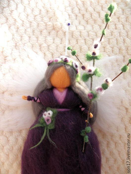 Коллекционные куклы ручной работы. Ярмарка Мастеров - ручная работа. Купить Сиреневый ангел. Handmade. Тёмно-фиолетовый, Ангел хранитель