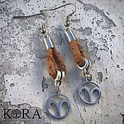 Украшения handmade. Livemaster - original item Portuguese cork earrings Aries zodiac signs Br0091/p1. Handmade.