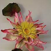 Цветы и флористика ручной работы. Ярмарка Мастеров - ручная работа Цветы из ткани Цветы из шелка Цветок лотоса. Handmade.