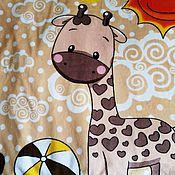 Работы для детей, ручной работы. Ярмарка Мастеров - ручная работа Плед, одеяло с жирафом. Handmade.