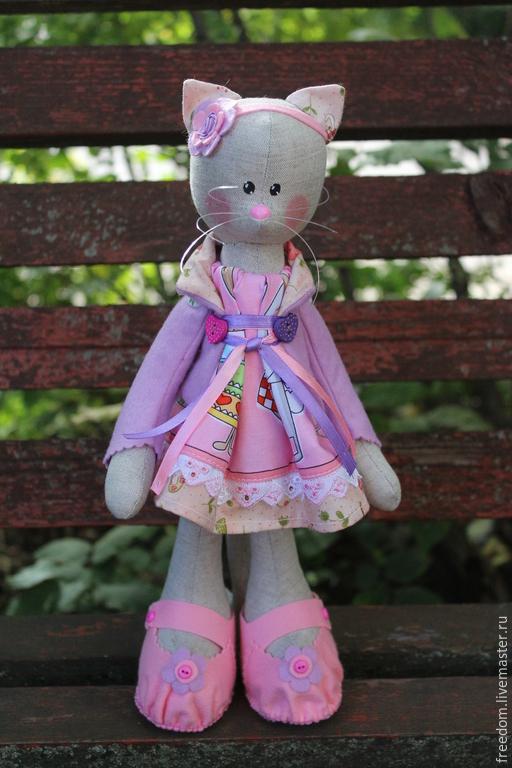 Куклы Тильды ручной работы. Ярмарка Мастеров - ручная работа. Купить Кошечка для дочечки. Handmade. Разноцветный, игрушка для интерьера