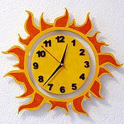 Для дома и интерьера handmade. Livemaster - original item Wall clock in the nursery