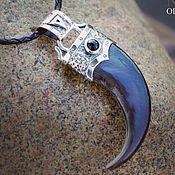 Фен-шуй и эзотерика handmade. Livemaster - original item Bear claw in silver with black agate. Handmade.