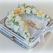 """Свадебный салон ручной работы. Ярмарка Мастеров - ручная работа Свадебная коробочка для денег """" Серебро"""". Handmade."""