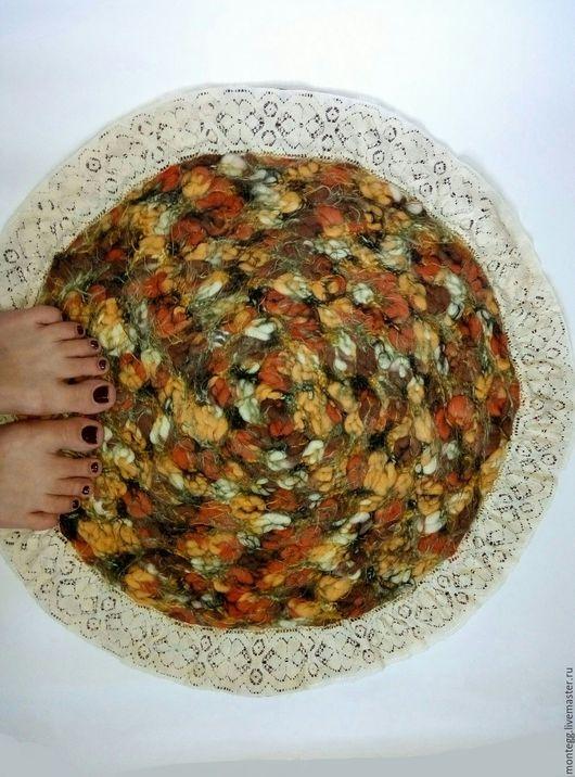 Текстиль, ковры ручной работы. Ярмарка Мастеров - ручная работа. Купить Коврик прикроватный. Handmade. Комбинированный, кружево