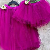 Одежда ручной работы. Ярмарка Мастеров - ручная работа Фатиновые юбки для мамы и дочки. Handmade.