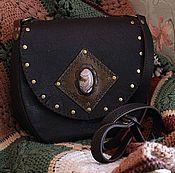 "Сумки и аксессуары handmade. Livemaster - original item Leather bag with agate ""Byron Bay"" dark chocolate. Handmade."