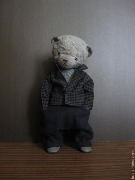 Мишки Тедди ручной работы. Ярмарка Мастеров - ручная работа. Купить Миша Семён. Handmade. Серый, мишка в одежке