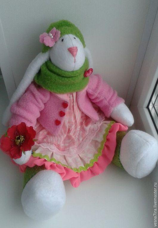 """Куклы и игрушки ручной работы. Ярмарка Мастеров - ручная работа. Купить Набор для шитья куклы """"Зайка -большеножка"""". Handmade. Белый"""