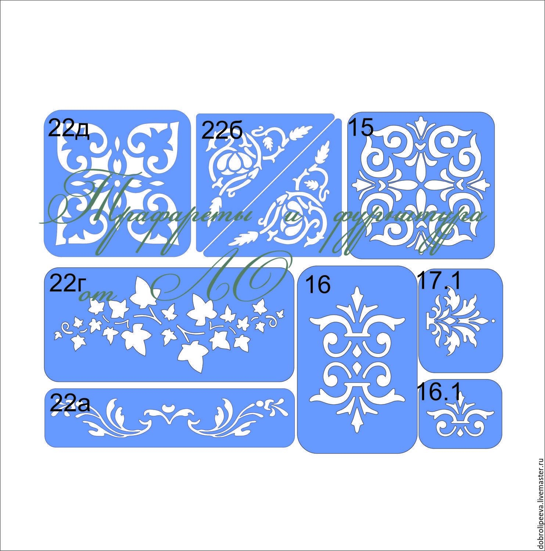 Как сделать своими руками трафареты для декора стен и мебели? 50