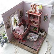 """Куклы и игрушки ручной работы. Ярмарка Мастеров - ручная работа Игровой румбокс """"Комната для мишутки"""". Handmade."""