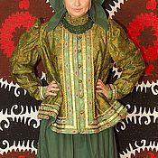 Одежда ручной работы. Ярмарка Мастеров - ручная работа Северный костюм с душегреем (Зеленый). Handmade.