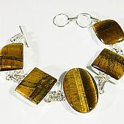 Украшения handmade. Livemaster - original item bracelet natural tiger`s eye, an amulet, a talisman.. Handmade.