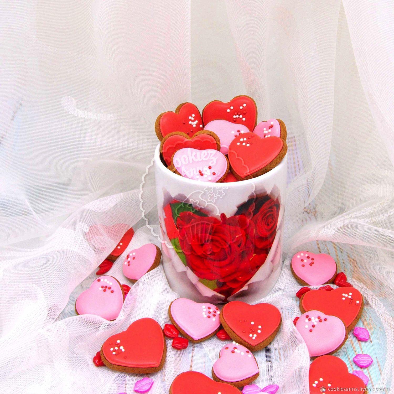 Gingerbread hearts in a mug, Gingerbread Cookies Set, St. Petersburg,  Фото №1