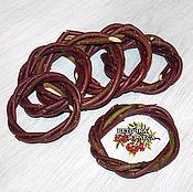 Природные материалы ручной работы. Ярмарка Мастеров - ручная работа Плетенное колечко из волчьей ягоды, 5-7 см. Handmade.