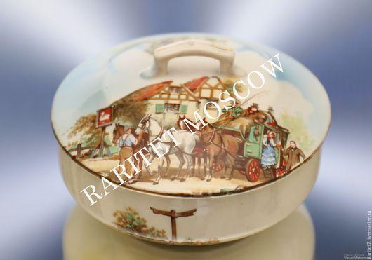 Винтажная посуда. Ярмарка Мастеров - ручная работа. Купить Банка сахарница карета дом конь фарфор Англия 2. Handmade.