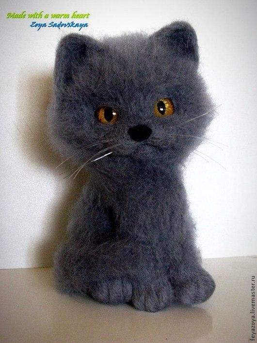 Игрушки животные, ручной работы. Ярмарка Мастеров - ручная работа. Купить Британский котик. Handmade. Темно-серый, Британский кот