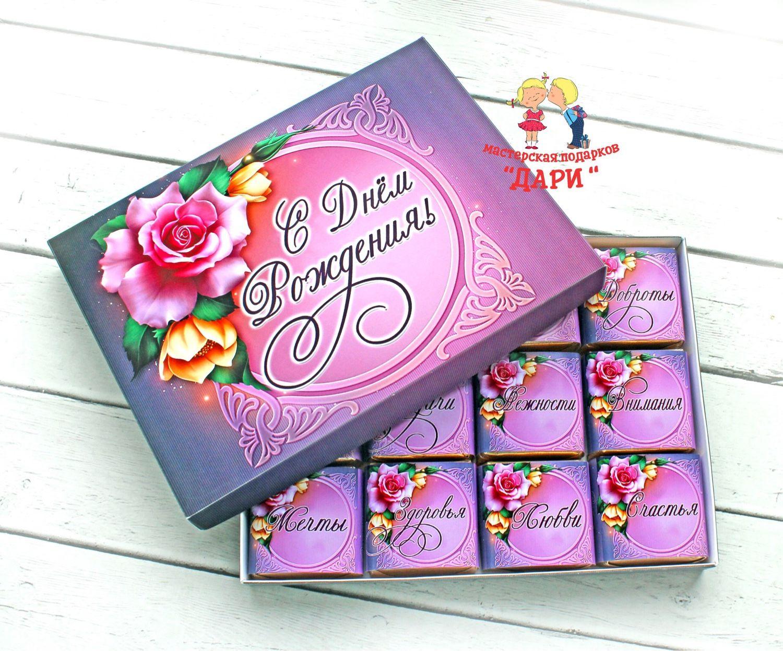 Поздравления с днем рождения о конфетах