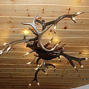 Для дома и интерьера ручной работы. Ярмарка Мастеров - ручная работа Люстра с 23 резными концами. Handmade.