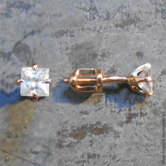 """Серьги ручной работы. Ярмарка Мастеров - ручная работа. Купить Серьги """"Алиса"""" из золота. Handmade. Золотой, со вставками"""