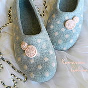 """Обувь ручной работы. Ярмарка Мастеров - ручная работа женские валяные тапочки """"Прикосновение"""". Handmade."""