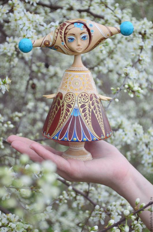 Коллекционные куклы ручной работы. Ярмарка Мастеров - ручная работа. Купить Ия - дыхание весны. Авторская кукла из дерева. Handmade.