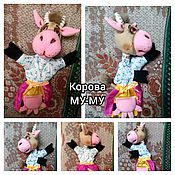 Куклы и игрушки handmade. Livemaster - original item Cow MOO-U. a Glove puppet.. Handmade.
