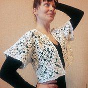 Одежда ручной работы. Ярмарка Мастеров - ручная работа Болеро вязаное крючком белое. Handmade.