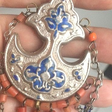 Винтаж ручной работы. Ярмарка Мастеров - ручная работа Коралл,старинное серебряное украшение. Handmade.