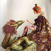 Куклы и игрушки ручной работы. Ярмарка Мастеров - ручная работа Принцесса и дракон.. Handmade.