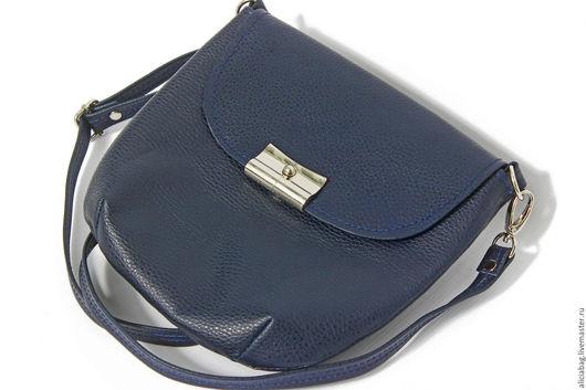 Женские сумки ручной работы. Ярмарка Мастеров - ручная работа. Купить Натуральная кожа сумочка 41. Handmade. Тёмно-синий