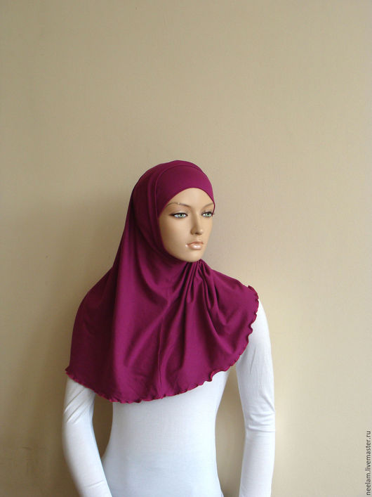 Этническая одежда ручной работы. Ярмарка Мастеров - ручная работа. Купить Базовый хиджаб - амира ,  фуксия. Handmade. Коричневый, ислам