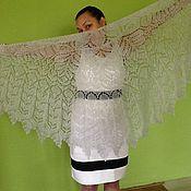 Свадебный салон ручной работы. Ярмарка Мастеров - ручная работа Свадебная шаль из мохера Дымка. Handmade.