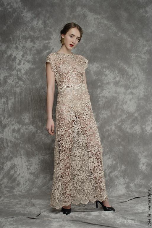 Платье кружевное бежевое, платье длинное, платье в пол кружевное, платье нарядное, платье на выпускной, платье из кружева, платье вечернее, платье с коротким рукавом, платье на выход, платье для выпус
