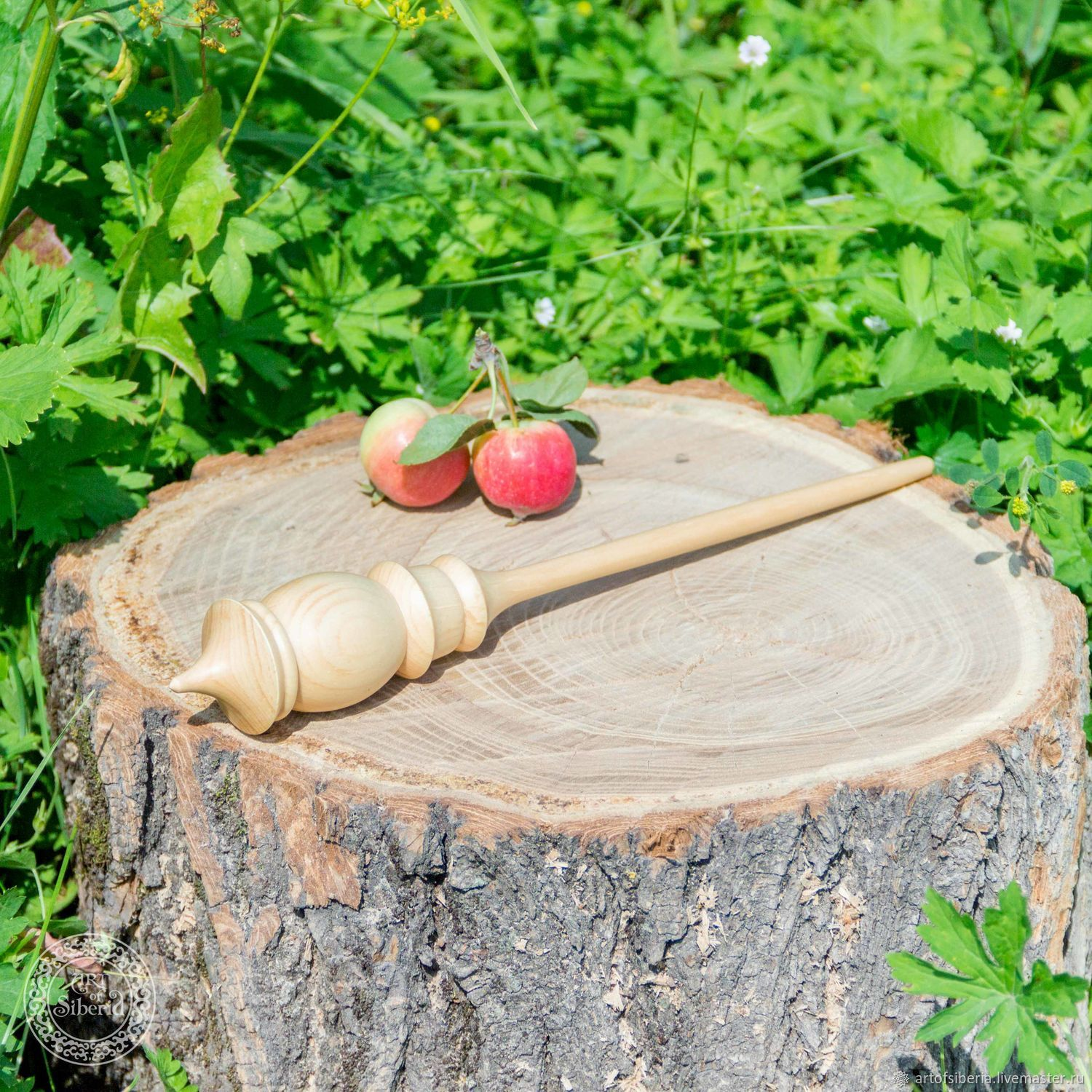 The Shortened spindle for spinning from Cedar Wooden spindle #B16, Spindle, Novokuznetsk,  Фото №1