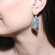 Украшения handmade. Livemaster - original item Classic Toshima earrings with agates in 925 silver HH0019-3. Handmade.