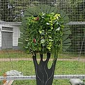 """Цветы и флористика ручной работы. Ярмарка Мастеров - ручная работа Декор для вертикальной поверхности """"Дерево-счастья"""". Handmade."""