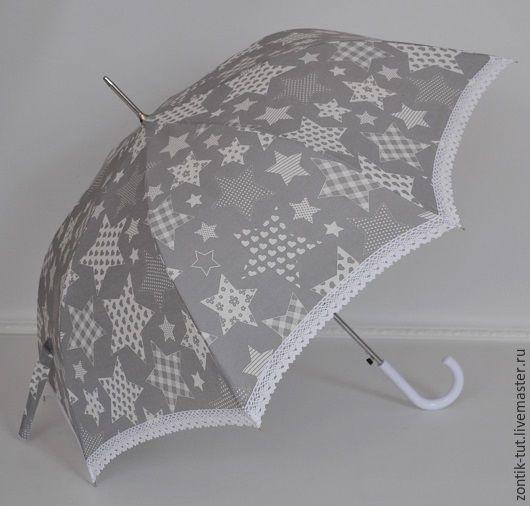 """Зонты ручной работы. Ярмарка Мастеров - ручная работа. Купить Зонт от солнца """"Звездный печворк"""". Handmade. Рисунок, от солнца, летний"""