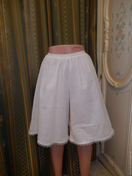 Юбки ручной работы. Ярмарка Мастеров - ручная работа. Купить Нижняя юбка - шорты. Handmade. Белый, юбка нижняя, бохо