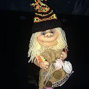 Куклы и игрушки ручной работы. Ярмарка Мастеров - ручная работа Домашний гномик ручной работы с мешком счастья (для МАРИИ). Handmade.