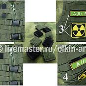 Материалы для творчества handmade. Livemaster - original item VELCRO ADAPTER for cell MOLLE (olive / black). Handmade.