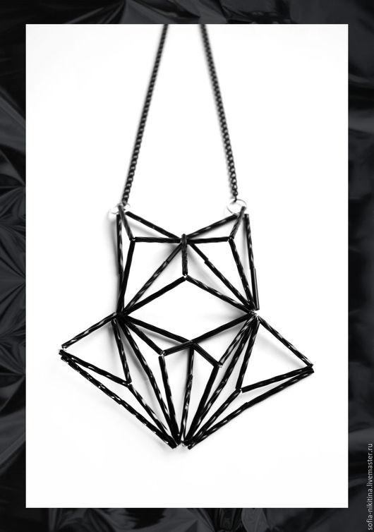 """Колье, бусы ручной работы. Ярмарка Мастеров - ручная работа. Купить Колье """"Geometrica-3"""". Handmade. Чёрно-белый, колье"""