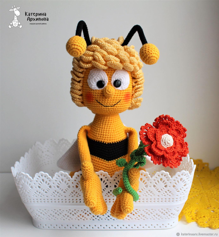 """Игрушки животные, ручной работы. Ярмарка Мастеров - ручная работа. Купить Уценка!!! Пчёлка """"Майя"""". Handmade. Желтый, пчелка, синтепух"""
