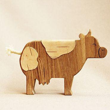 Деревянная игрушка - Корова