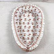 Кокон-гнездо ручной работы. Ярмарка Мастеров - ручная работа Гнездышко для новорождённого. Handmade.