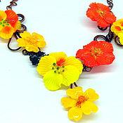 Украшения handmade. Livemaster - original item Necklace Summer will be Sunny lampwork. Handmade.