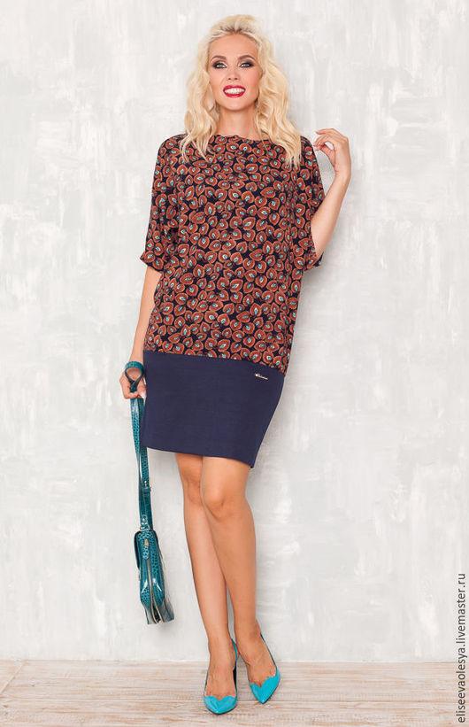 Платья ручной работы. Ярмарка Мастеров - ручная работа. Купить Классное комбинированое платье 27021-1. Handmade. Желтый