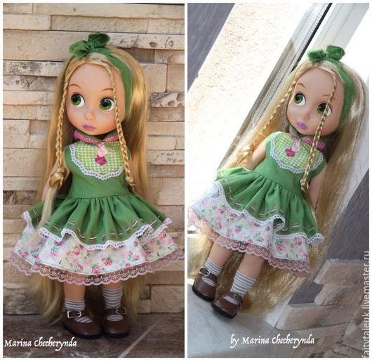 Одежда для кукол ручной работы. Ярмарка Мастеров - ручная работа. Купить Платье для куклы Дисней Disney. Handmade. Зеленый