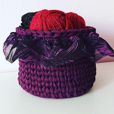 Для дома и интерьера ручной работы. Ярмарка Мастеров - ручная работа Вязаные корзинки. Handmade.