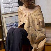 Палантины ручной работы. Ярмарка Мастеров - ручная работа Палантин валяный Золотистый. Handmade.